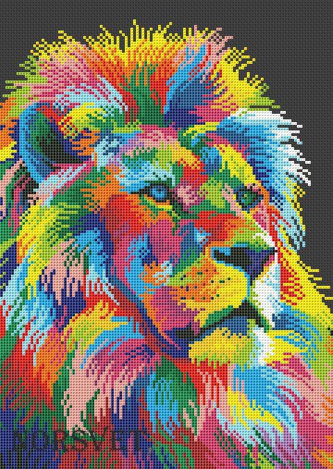 Colorful lion pattern - Norsvet