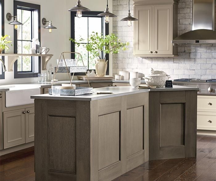 kitchen cabinets in true taupe cabinet paint with angora accents taupe kitchen taupe kitchen on kitchen hutch id=66520