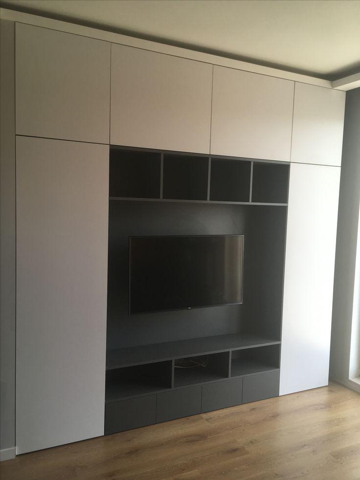 regał RTV do salonu RTV bookcase to living room #regał #bookcase #rtv #dvd #cd #salon #livingroom #nowemieszkanie #decor #design #homesweethome #remont #renovation #meble #furniture #nawymiar #warszawa #warsaw #poland