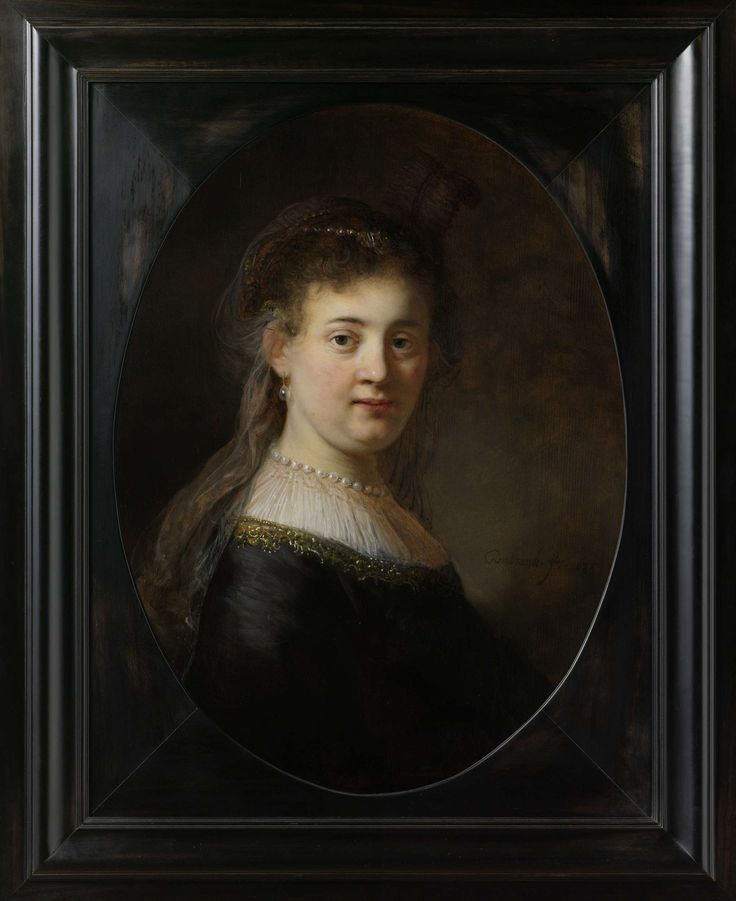 Portrait Of A Woman (likely the artist's wife, Sasha) -- Circa 1633 -- Rembrandt van Rijn -- Dutch -- Rijksmuseum, Amsterdam