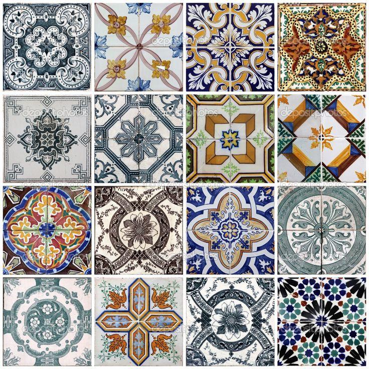 17 melhores ideias sobre azulejos pintados no pinterest - Pintar sobre azulejos ...