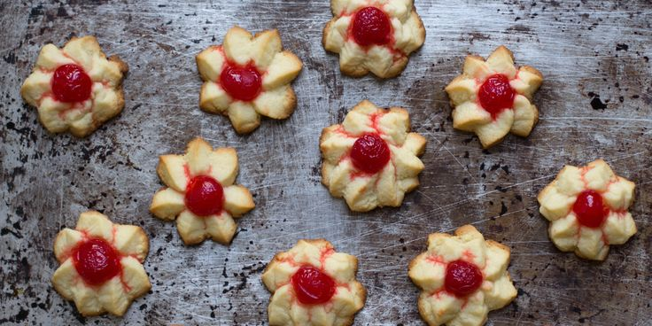 Iconic star-shaped Italian cookies from our book Best Cookies are infused with kirsch and cream to add richness and depth.