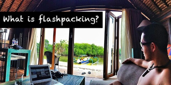 What is #flashpacking? #travel #backpacking #flashpacking #bali #island #bungalow #indonesia