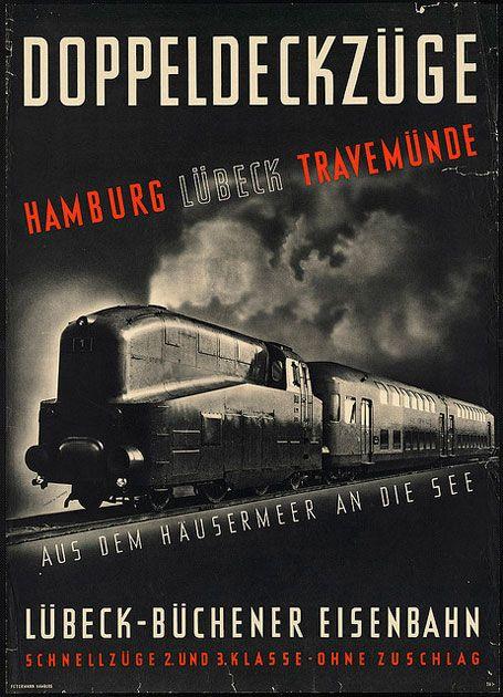 Vintage German travel poster.
