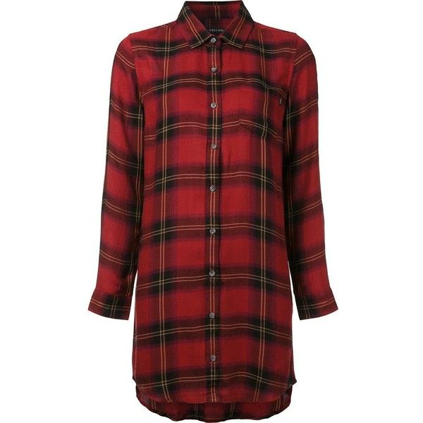 Obey checked shirt ($73) ❤ liked on Polyvore featuring tops, red, red top, red checkered shirt, checkered pattern shirt, checkered top and checkered shirt