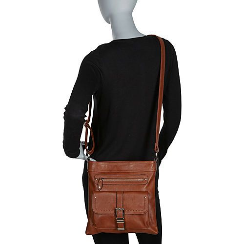 La Diva Crossbody Bag with Front Buckle Details - eBags.com