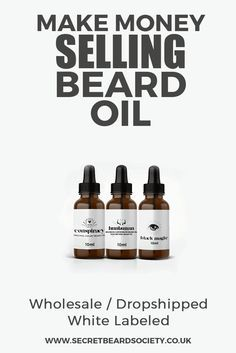 Make money selling our beard oil. We no offer Wholesale / Drop Shipped or White Labeled beard oils and products. A great addition to any male grooming store.