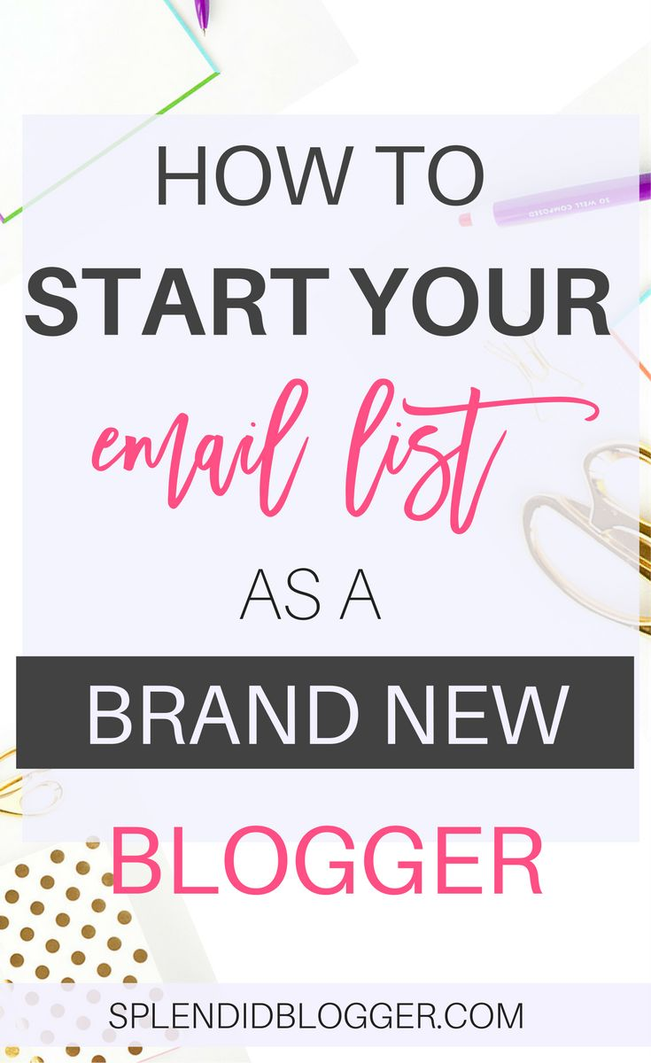 Are you a new blogger? Ready to start your email list? It can be confusing at first. Where do you even start? Find out how to quickly start and grow your email list as a beginner blogger today!   beginner blogger   make money blogging   grow your email list   splenididblogger.com #EmailList #emaillistbuilding