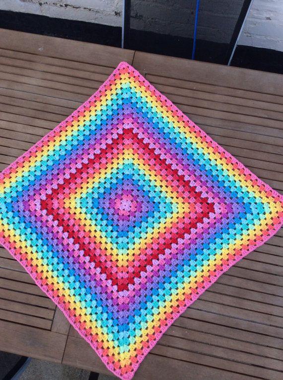 ready to ship Crochet  baby Granny square blanket  by CrochetOutre
