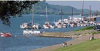 Harris Riverfront Park is located along the Ohio River in downtown Huntington. It includes a playground, floating stage, boat ramps and a  river walk. It also hosts many concerts and festivals in the spring and summer.