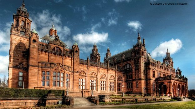 The exterior of the Kelvingrove Museum and Art Gallery, Glasgow.