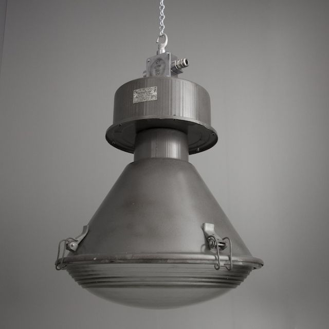 Beautiful imposing industrial czech factory lights with steel and glass find this pin and more on vintage lighting