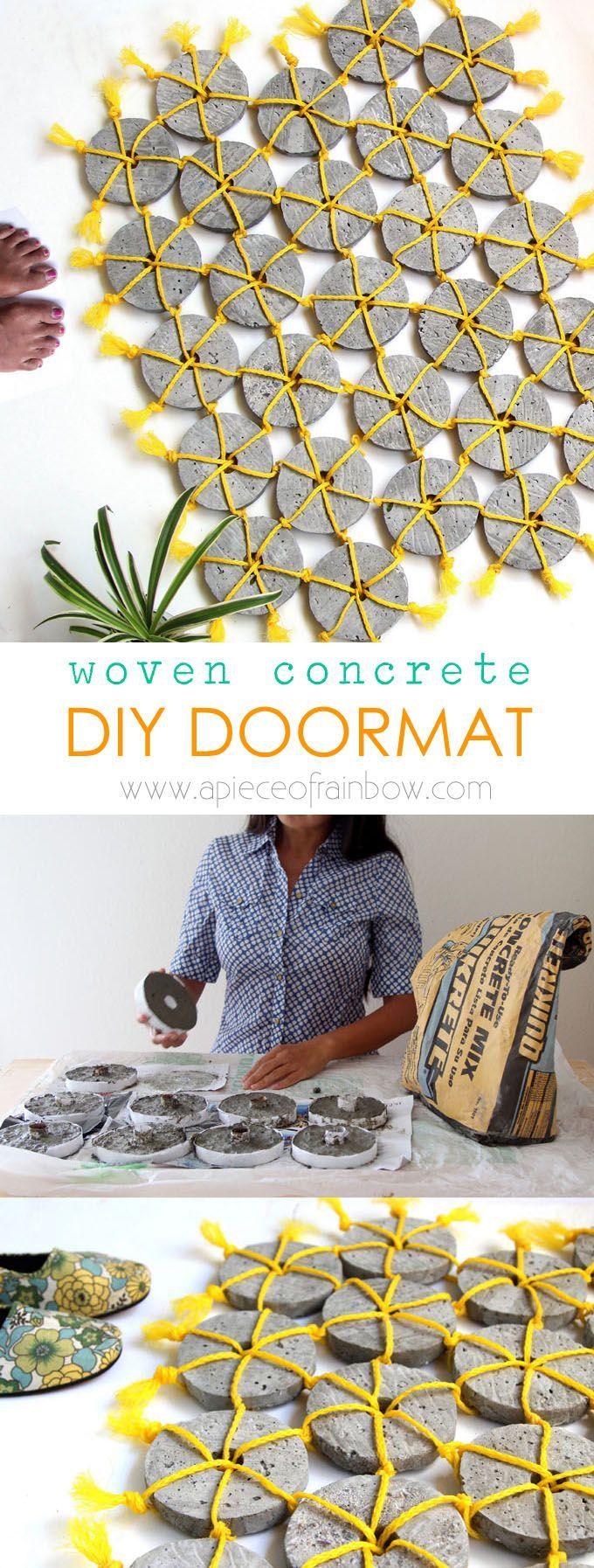 DIY Woven Concrete Doormat