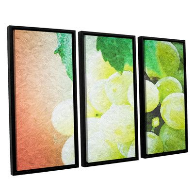 """Red Barrel Studio Planet of The Grapes 3 Piece Graphic Art on Wrapped Canvas Set Size: 36"""" H x 54"""" W x 2"""" D"""