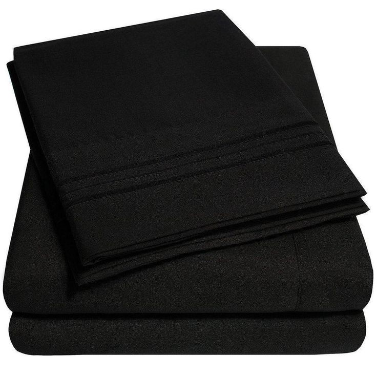 1500 Supreme Collection Extra Soft Twin XL Sheets Set, Black Luxury Bed Set... #SweetHomeCollection