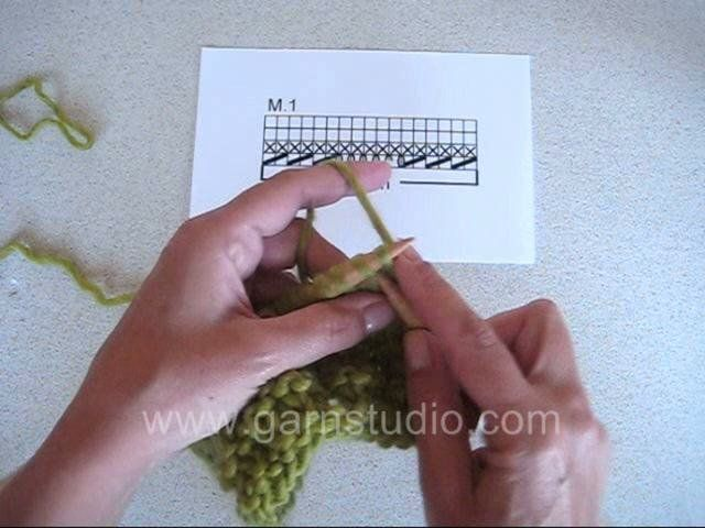 DROPS Knitting Tutorial: How to work a wave pattern