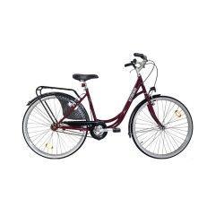 bicicleta ciudad LIBERTY mujer modelo holandes burdeos STREAM