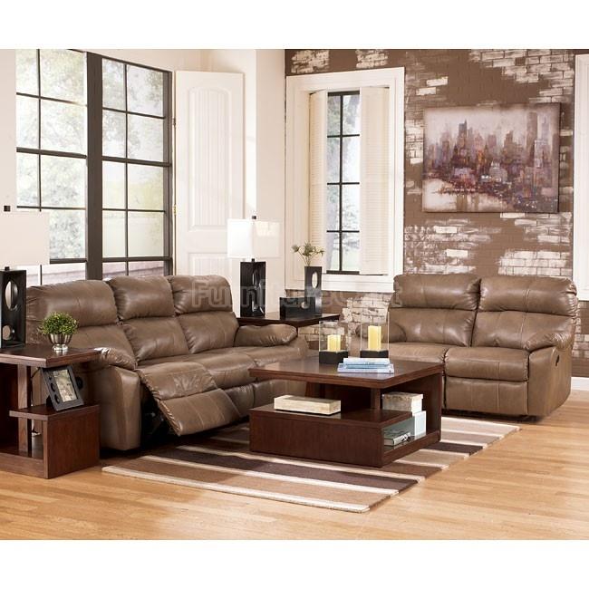 Windmaster DuraBlend Taupe Living Room Set W/ Power Signature Design | Furniture Cart
