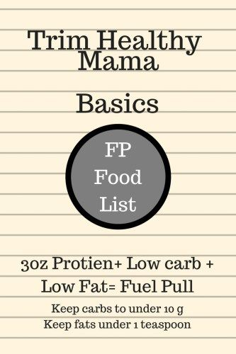 A guide on Fuel Pull foods and numbers when following the Trim Healthy Mama plan. Includes what you can have, what not to and meal ideas.