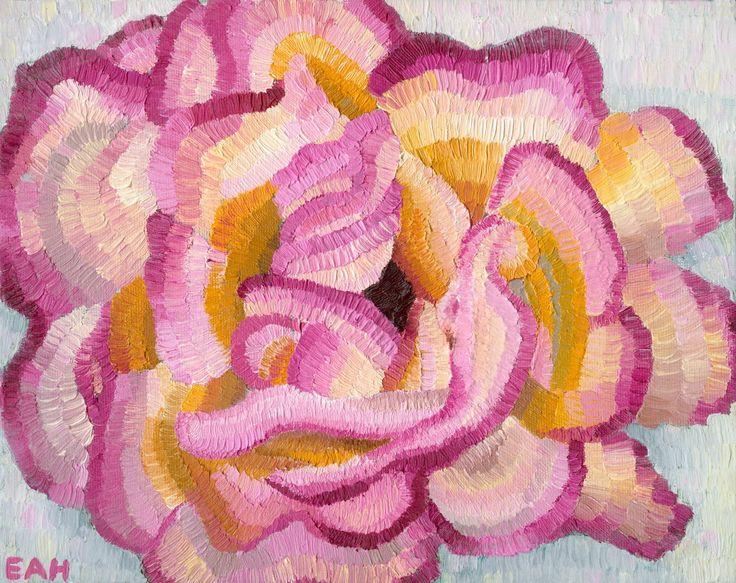 Romney Rose, oil on canvas board, Elisabeth Howlett, 2013