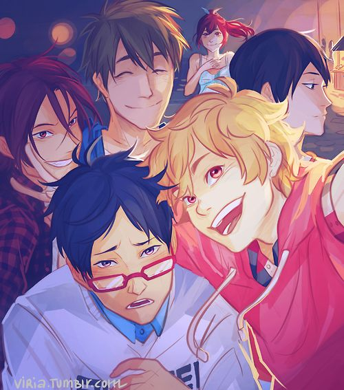Rei-chan doesn't quite get this selfie game and Gou is happy Rin-Rin smiles again.