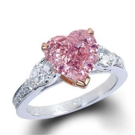 Pink Diamond heart ring