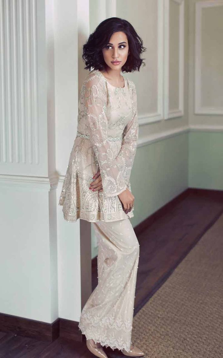 Wedding And Party Wear Short Frocks With Sharara 2017