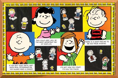 Peanuts Bulletin Board. #ClassroomDecorations #BulletinBoard
