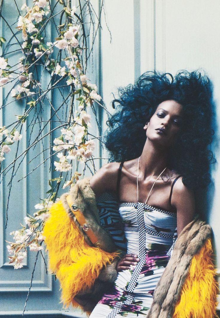 Liya Kebede in Dolce & Gabbana Fall by Steven Meisel