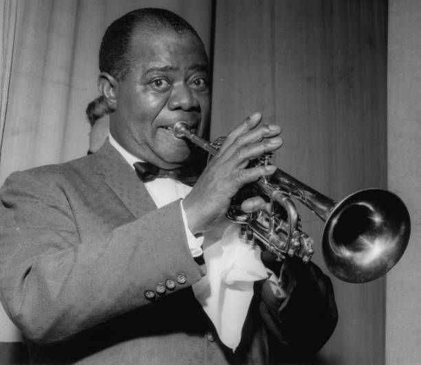Louis Armstrong on stage on Day 2, Finsbury Park Astoria, London ...