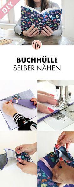 Buchhülle selber nähen - Näh-Anleitung via Makerist.de