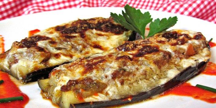 Albergínies farcides de carn - Racó Català