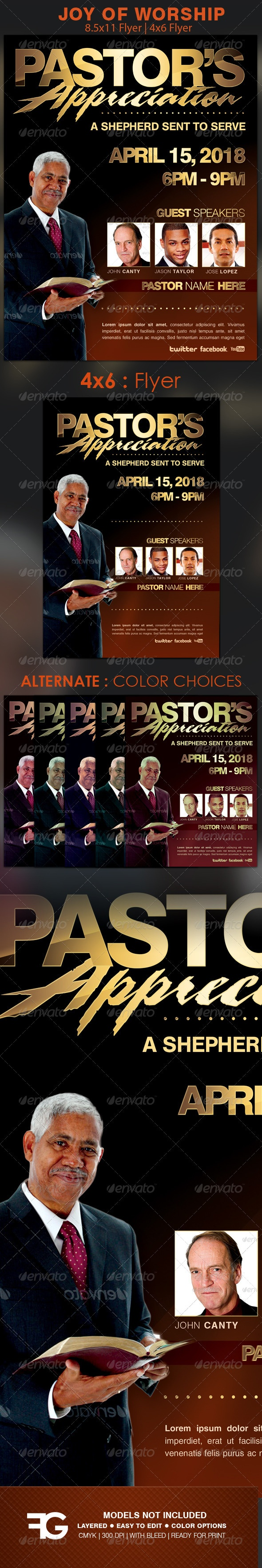 Pastors Appreciation Church Flyer Template The 14