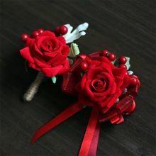 2 шт./лот искусственные цветы невесты запястье цветы человека женщин наручные корсажи жених бутоньерка свадебные цветы ну вечеринку украшения(China (Mainland))