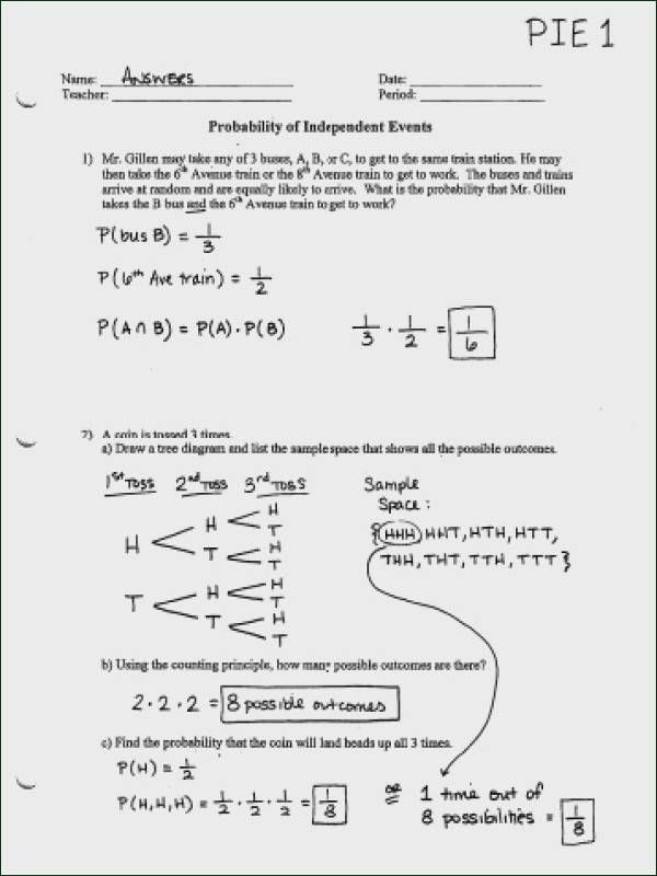 23 Conditional Probability Worksheet Answers Probability
