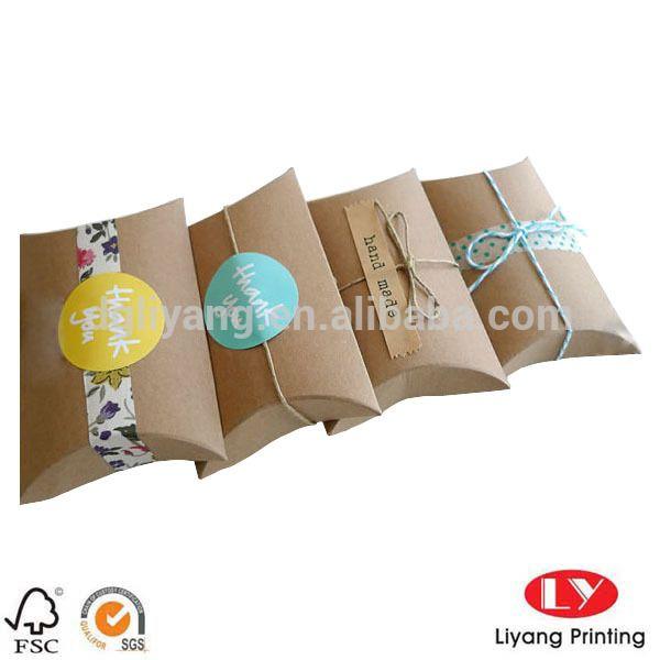 Personalizado ordem papel kraft reciclado marrom caixa travesseiro com impressão do logotipo e fita para presente/sabão/tecido/jewelrypackaging-Caixas de embalar-ID do produto:674691962-portuguese.alibaba.com
