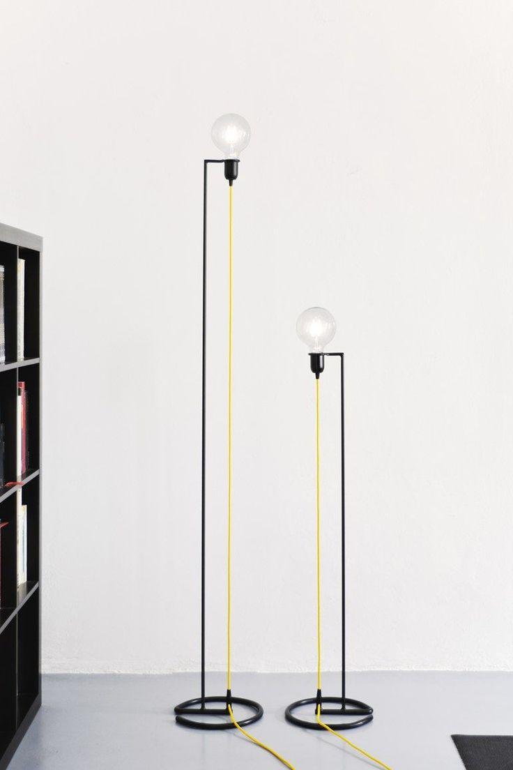 LED iron floor lamp VORTEX - @bigdesignstudio                                                                                                                                                                                 More
