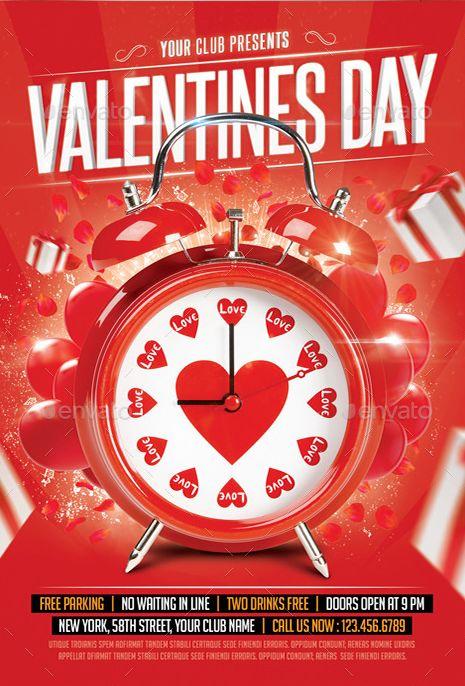 valentine's day menu psd