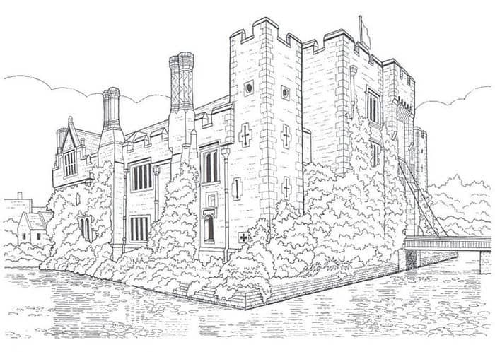 Castle Coloring Pages Printable In 2020 Castle Coloring Page