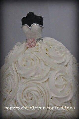 Bridal Shower Wedding Cake
