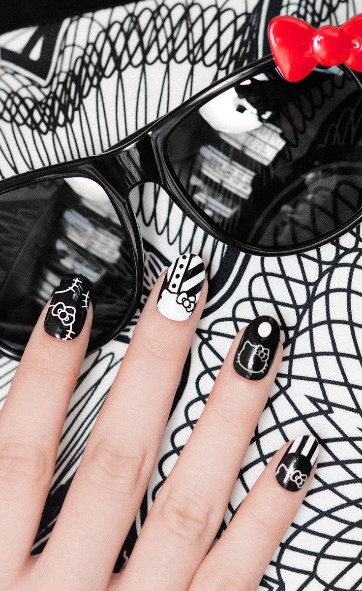 605 best Hello Kitty Nails images on Pinterest | Hello kitty nails ...