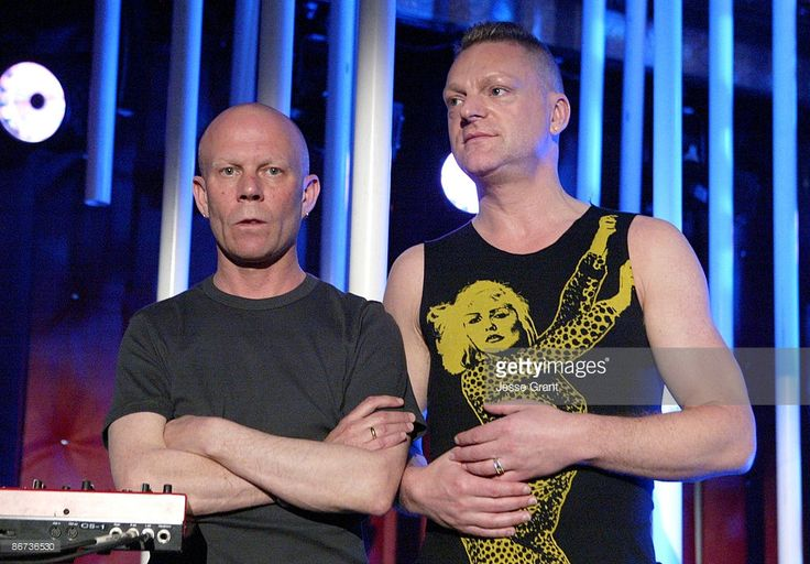 Vince Clarke and Andy Bell of Erasure on the 'Jimmy Kimmel Live' show on ABC - Photo by Jesse Grant/WireImage.com/ABC