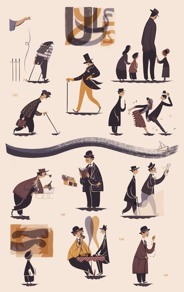 Illustrations 2012 by Roman Muradov ( Illustrated for The New Yorker) http://www.inspirefirst.com/2013/01/07/illustrations-2012-roman-muradov/
