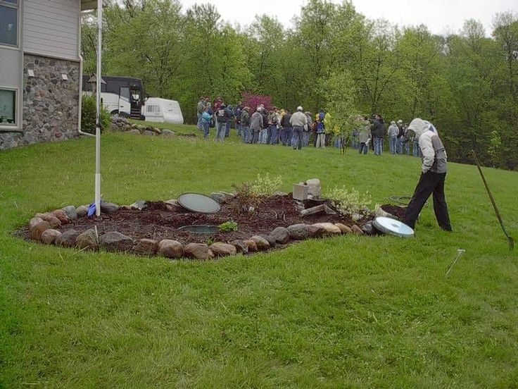 landscaping septic system drainfields and mounds