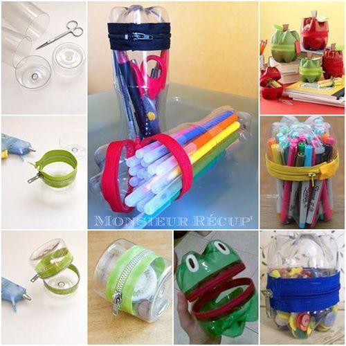 40 best diy crafts images on pinterest craft ideas diy diy plastic bottle into pen holder solutioingenieria Choice Image
