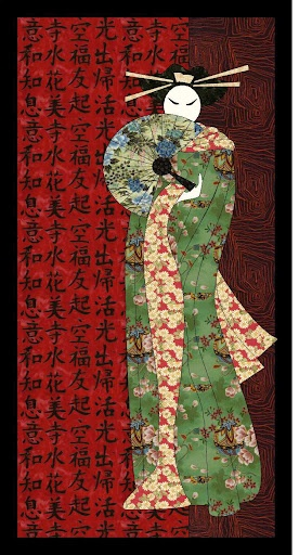 Geisha Asian quilt
