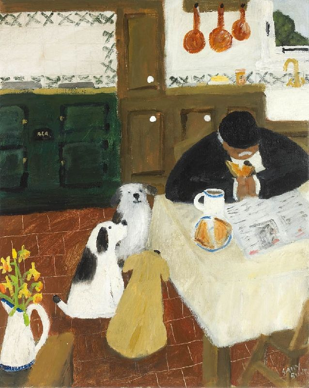 Gary Bunt   We like long walks We like bones and things But the thing that we like most Is the taste of butter and marmalade When he gives us the crust off his toast