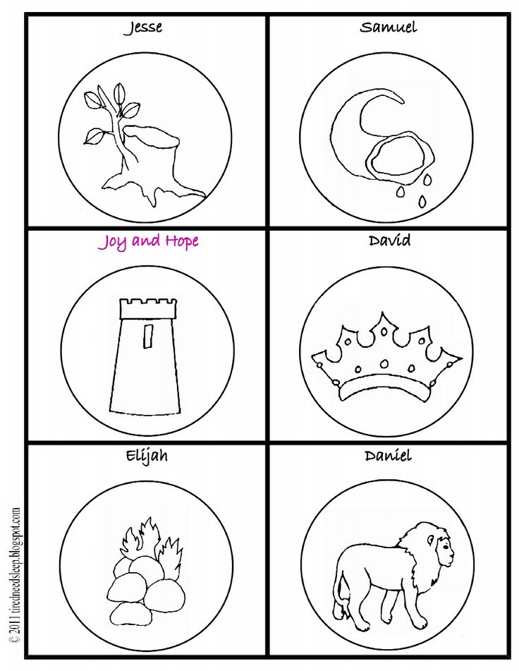 Lively image for jesse tree symbols printable