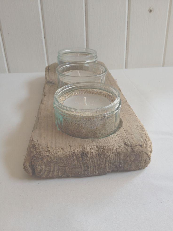 Round jar tealight holder £15