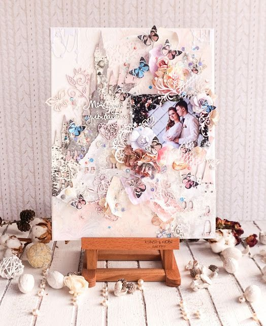 Romantic wedding canvas by Maria Lillepruun